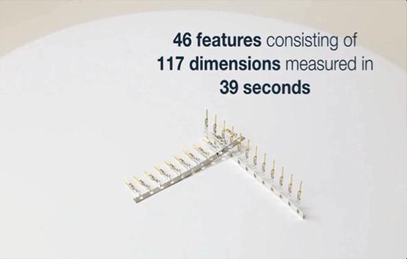 コネクターピンの三次元測定事例