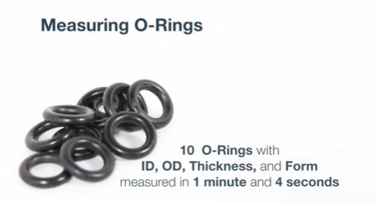 Oリングの三次元測定事例