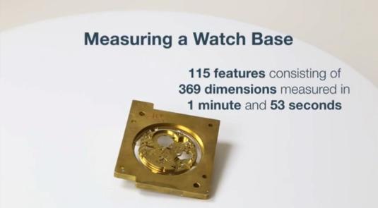 時計ベースの三次元測定事例