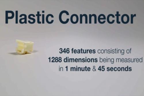 プラスチックコネクタの三次元測定事例
